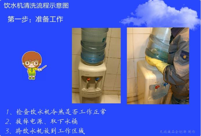 饮水机清洗服务流程图